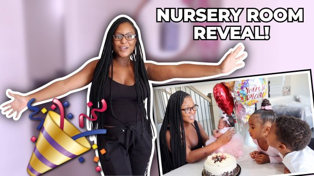 AYAH'S NURSERY ROOM REVEAL + 1 WEEK BIRTHDAY!