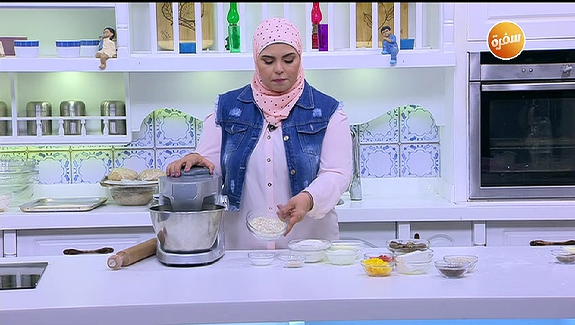 طريقة تحضير خبز بالشوفان محشي | نجلاء الشرشابي