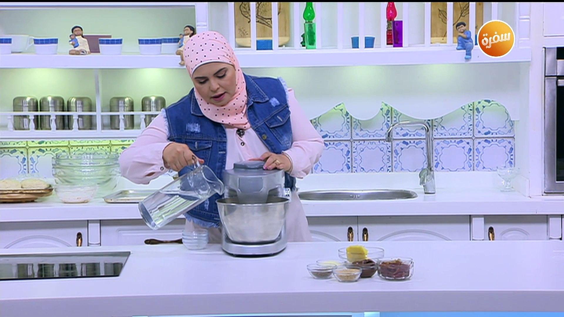 طريقة تحضير خبز شامي محشي | نجلاء الشرشابي