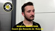 Hockey sur glace Interview de Romain Bonnefond 2019-08-27 Manager Général des Renards Roannais