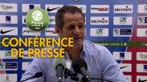 Conférence de presse Châteauroux - Grenoble Foot 38 (1-1) : Nicolas USAI (LBC) - Philippe  HINSCHBERGER (GF38) - 2019/2020