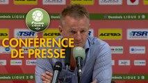 Conférence de presse Valenciennes FC - Chamois Niortais (1-1) : Olivier GUEGAN (VAFC) - Pascal PLANCQUE (CNFC) - 2019/2020