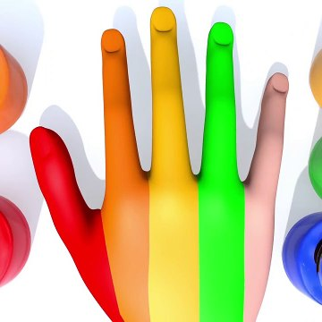 Learn Colors with Hand Paint Finger Family Song for Kid Children