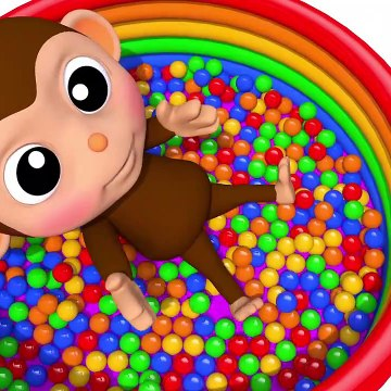Learn Colors with Little Baby Monkey Bath Time Finger Song Nursery Rhymes for Kid Children