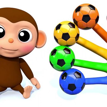 Learn Colors with Little Baby Monkey Finger Song Nursery Rhymes for Kid Children