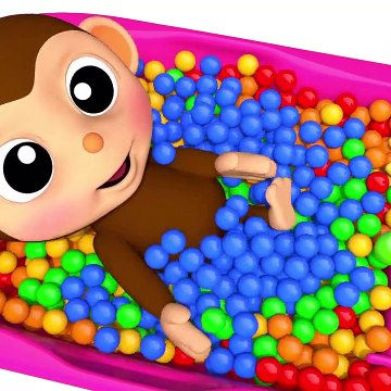 Learn Colors with Baby Monkey Baby Bottle Bath Time Finger Family Song for Kid Children