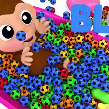 Learn Colors Baby Monkey Bunny Mold Bath Time Finger Family Song for Kid Children