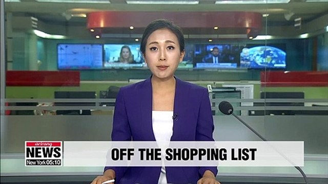 Korean shoppers drop Japanese artwork, cosmetics and other consumer goods from shopping basket