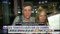 Un policier a tiré du gaz lacrymogène sur ce couple sur Champs-Élysées pendant la manifestation de samedi