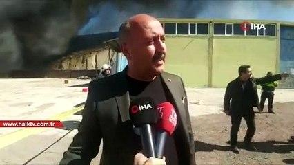 Bir fabrika yangını daha: Söndürme çalışmaları sürüyor
