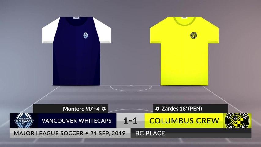 Match Review: Vancouver Whitecaps vs Columbus Crew on 21/09/2019