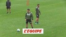 Ben Yedder et Slimani en entraînement adapté - Foot - L1 - Monaco