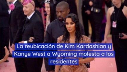 La reubicación de Kim Kardashian y Kanye West a Wyoming molesta a los residentes