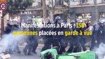 Manifestations à Paris : 158 personnes placées en garde à vue
