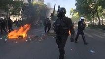 Paris'te çatışmaların gölgesinde iklim yürüyüşü