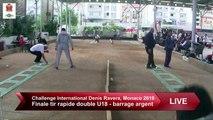 Barrage U18 pour l'argent, tir rapide en double, Challenge International Denis Ravera, Monaco 2019