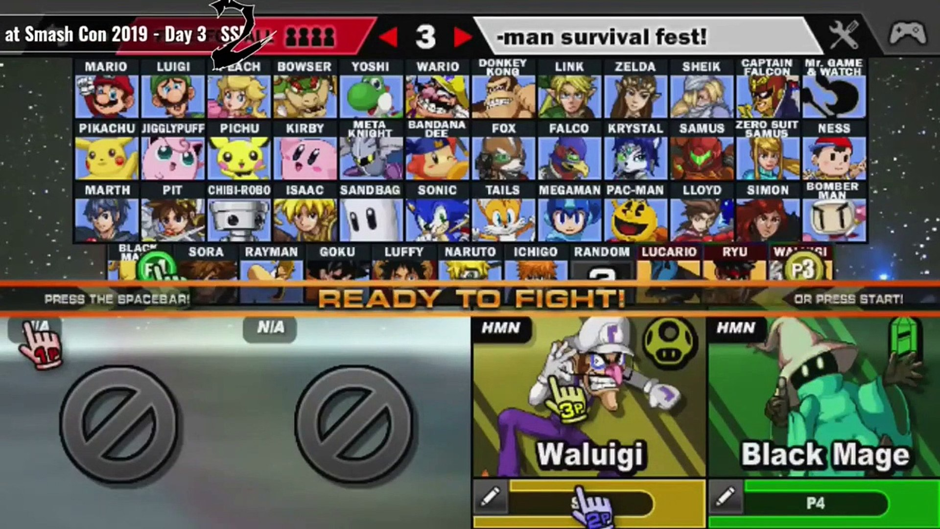 Waluigi Gameplay Ssf2 Beta Smash Con 2019 In Hd Video Dailymotion