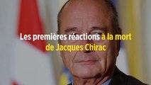 Les premières réactions à la mort de Jacques Chirac