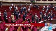 Décès de Jacques Chirac : l'Assemblée nationale a observé une minute de silence