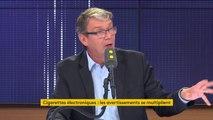 """Cigarettes électroniques : """"Clairement en France, pour les produits autorisés, il n'y a pas de problème sanitaire"""" affirme Roger Genet, directeur général de l'ANSES"""