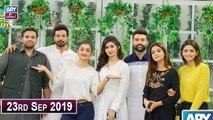 Salam Zindagi With Faysal Qureshi - Hira Soomro, Laiba Khan -  23rd September 2019
