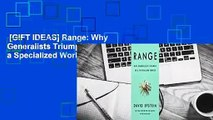 [GIFT IDEAS] Range: Why Generalists Triumph in a Specialized World