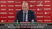 """5e j. - Zidane : """"Nous avons évolué à un haut niveau"""""""