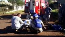 Mulher é atropelada por carro na Rua Visconde de Guarapuava