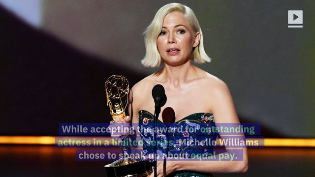 Michelle Williams Pleads for Pay Equality During 2019 Emmy Awards