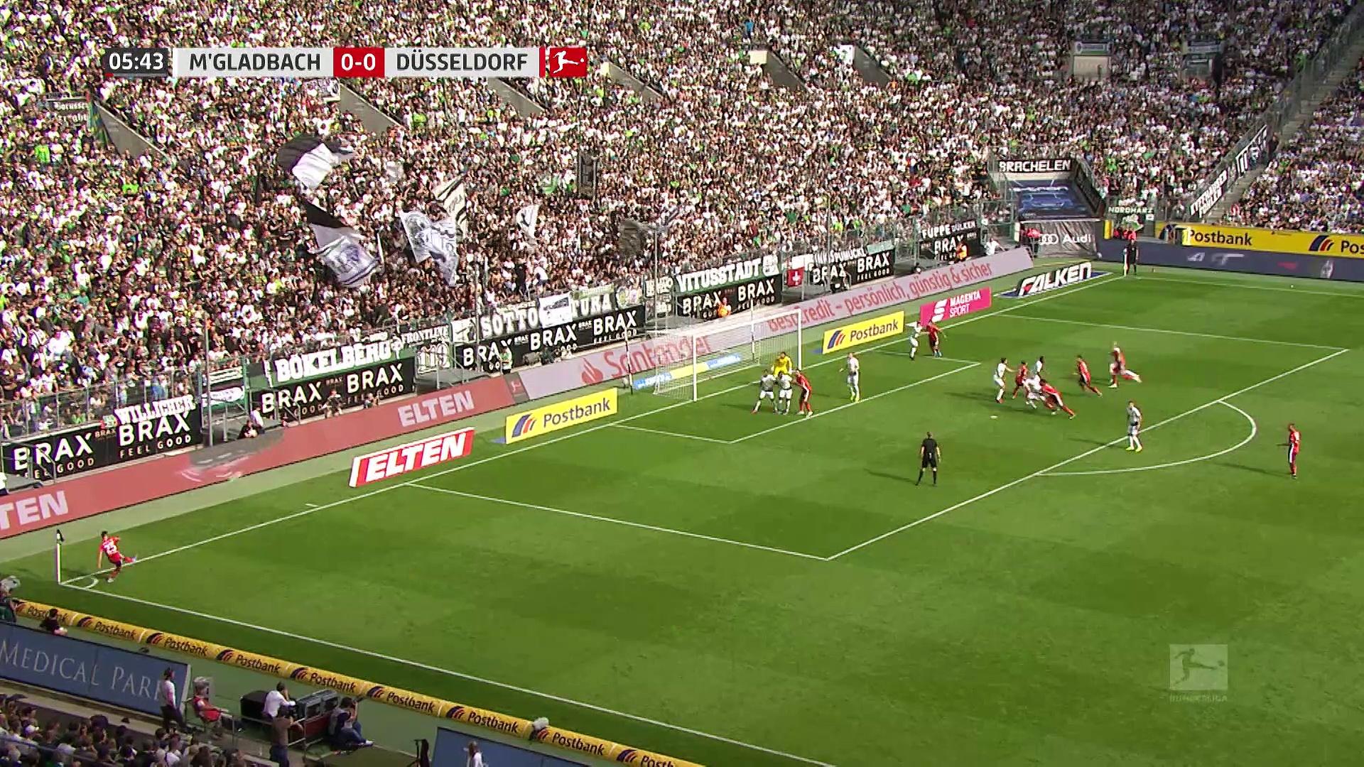 5. Hafta / Borussia Mönchengladbac - Fortuna Düsseldorf: 2-1 (Özet)
