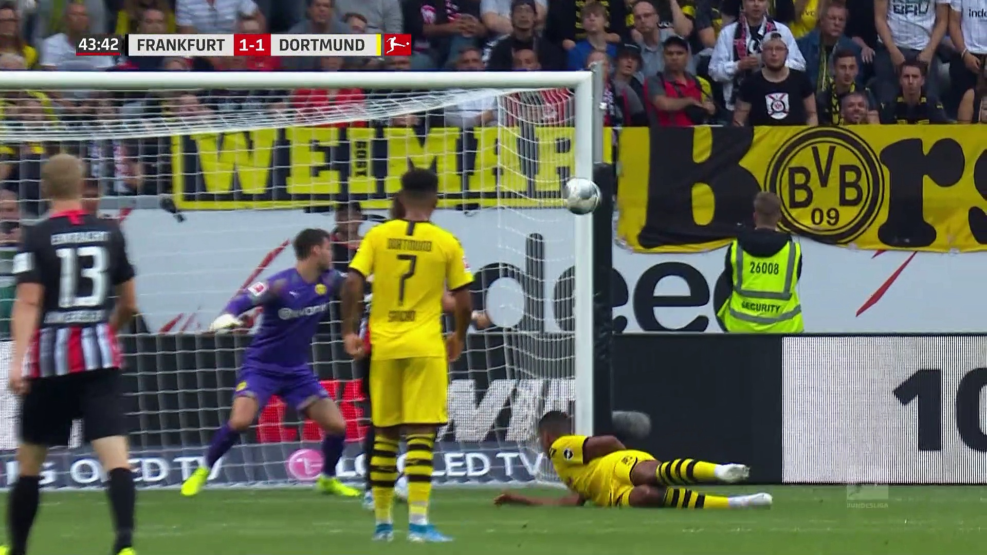 5. Hafta / Eintracht Frankfurt - Borussia Dortmund: 2-2 (Özet)