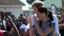 Meghan y Harry se marcan un baile en su debut africano