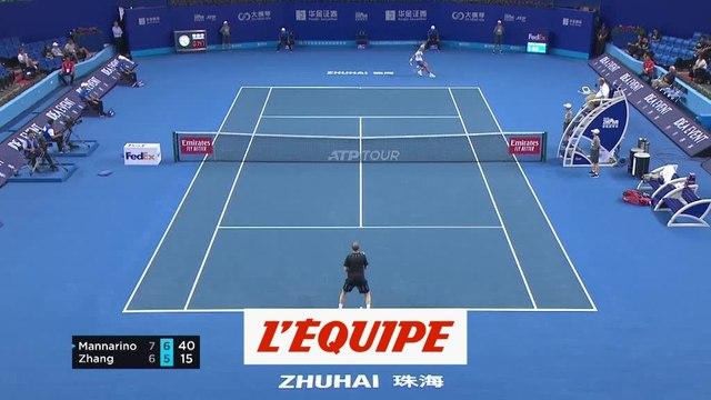 Adrian Mannarino se qualifie dans la douleur - Tennis - ATP - Zhuhai