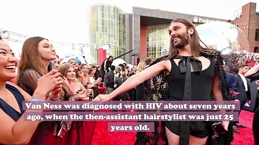 "Jonathan Van Ness came out as a member of the ""beautiful HIV-positive community"""