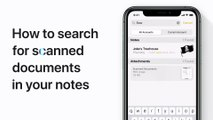 How to search inside scanned documents in Notes for iPhone or iPod touch – Apple Support