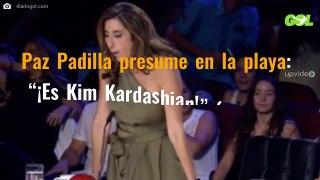 Paz Padilla presume en la playa ¡Es Kim Kardashian ojo a la