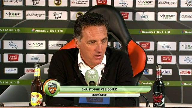 La réaction de Christophe Pelissier après FC Lorient - Rodez (2-1) 19-20