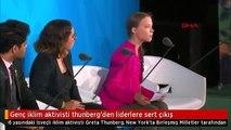 Genç iklim aktivisti thunberg'den liderlere sert çıkış