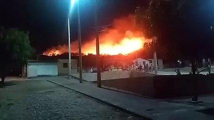 Incêndio atinge serra em Itapipoca