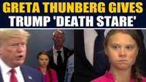 Greta Thunberg gives Donald Trump a 'death stare' after her fiery speech, video goes viral