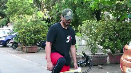 Big Boss Fame Gautam Gulati Spotted Doing Cycling