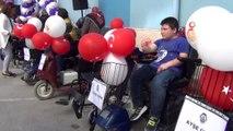 Engelli bireylere 16 akülü araç ve 10 tekerlekli sandalye