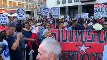 """Salvini - Bandiere rosse, tamburi e """"Bella Ciao"""" al grido di """"Cosenza meticcia"""" e """"Salvini muori"""" (24.09.19)"""