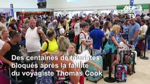Faillite de Thomas Cook: des passagers bloqués à l'aéroport de Cancun