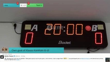 Own goal of Klauss KoinKoin (0-2)