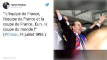 Mort de J. Chirac. L'ancien président de la République indissociable de la Coupe du monde 1998