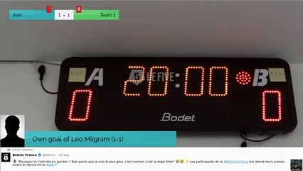 Own goal of Leo Milgram (1-1)