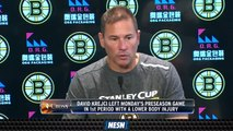 Bruins Head Coach Bruce Cassidy Gives An Injury Update On David Krejci