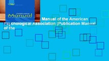 [FREE] Publication Manual of the American Psychological Association (Publication Manual of the