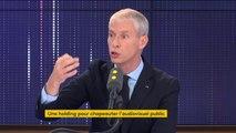 """Baisse de la redevance de 1 euro l'an prochain : """"La redevance a un rendement dynamique"""", explique Franck Riester. """"On préfère le rendre aux Français que de le garder dans le budget de l'État"""""""